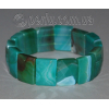 Браслет из тонированного зелено-голубого агата 'Океанские волны'