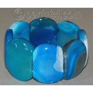 Браслет из натурального синего агата 'Морская волна'