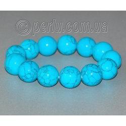 Бирюзовый браслет 'Голубой шар'