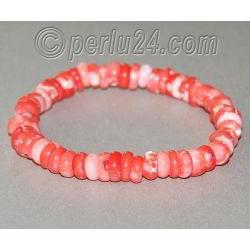 Браслет из натурального розового коралла 'Нежный стиль'