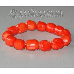 Браслет из натурального коралла 'Оранжевый'