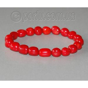 Браслет из натурального красного коралла 'Чудесный подарок'