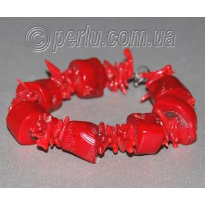 Браслет из натурального красного коралла 'Замечательный'