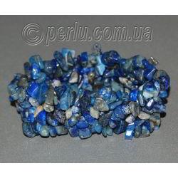 Браслет из натурального лазурита 'Синие россыпи'