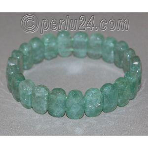 Браслет из натурального камня зеленого кварца 'Празем'