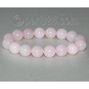 Браслет из натурального камня розового кварца 'Симпатичный'