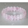 Браслет из натурального камня розового кварца 'Взаимопонимание'