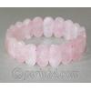 Браслет из натурального камня розового кварца 'Романтичный'