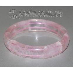 Браслет из натурального розового кварца 'Милый'
