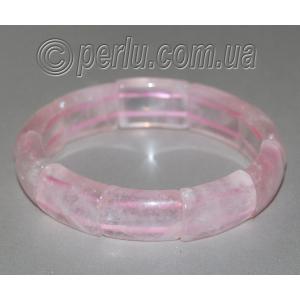 Браслет из натурального камня розового кварца 'Милый'