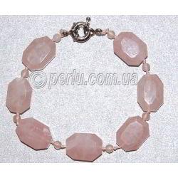 Браслет из натурального розового кварца 'Диана'