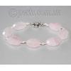 Браслет из натурального камня розового кварца 'Диана'
