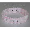 Браслет из натурального камня розового кварца 'Розалинда'
