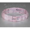 Браслет из натурального камня розового кварца 'Нежный свет'