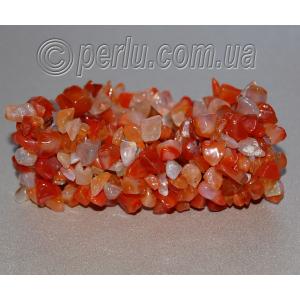 Браслет из натурального камня сердолика №1375