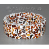 Браслет из натурального янтаря 'Новогодняя мозаика'