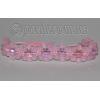 Браслет шамбала из натурального розового кварца №7191