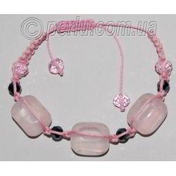 Браслет шамбала из розового кварца №7197