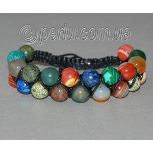 Браслет шамбала из натуральных камней самоцветов №72781