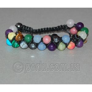Браслет шамбала из натуральных камней самоцветов №73091