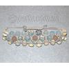 Браслет шамбала из лунного камня и розового кварца №8125