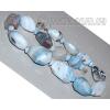 Бусы из натурального голубого агата 'Кристалл вдохновения'