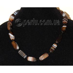 Бусы из натурального коричневого агата №6169