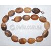 Бусы из натурального коричневого агата 'Латте'