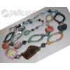 Бусы ожерелье из натурального мохового агата 'Фантастические'