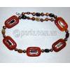 Бусы из натурального сердолика, агата, жемчуга 'Мое ожерелье'