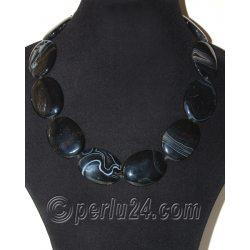 Бусы из черного агата 'Шикарные камни'