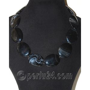 Бусы из натурального черного агата  'Шикарные камни'