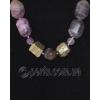 Бусы из натуральных камней флюорита и пирита 'Волшебство и богатство'