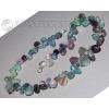 Бусы из натурального камня флюорита 'Разноцветные капли'
