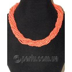 Бусы из натурального оранжевого коралла 'Красота и мудрость'