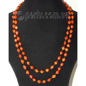 Бусы из натурального оранжевого коралла 'Ваша женственность'