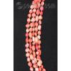 Бусы-ожерелье из натурального розового коралла 'Лепестки роз'