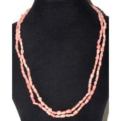 Длинные бусы из розового коралла 'Прелесть'