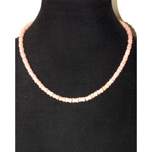Бусы из натурального розового коралла 'Легкость'