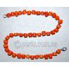 Бусы из натурального оранжевого коралла 'Оранж'