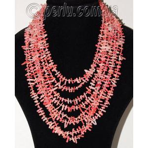 Бусы из натурального розового коралла 'Притяжение женственности'