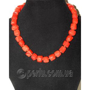Бусы из натурального оранжевого коралла 'Каролина'