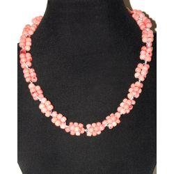 Бусы из натурального розового коралла 'Морская роскошь'