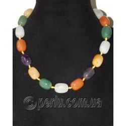 Бусы из натуральных камней самоцветов 'Разноцветные'