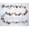 Бусы из натуральных камней самоцветов 'Веселая радуга'
