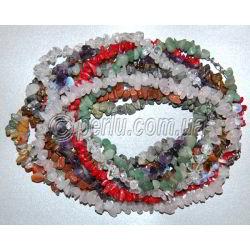 Бусы из натуральных камней самоцветов в одну нить 'Калейдоскоп'