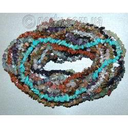 Бусы из камней самоцветов в одну нить 'Мой талисманчик'