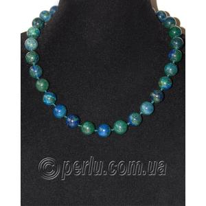 Бусы из натурального камня азурита 'Горная синь'