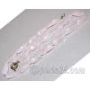 Бусы из натурального камня розового кварца 'Нежность'