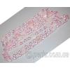 Бусы из розового кварца с чешским стеклом 'Зоряна'